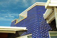 Blue glazed brick