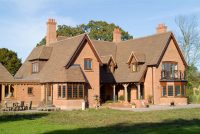 Brown multi clay roof tile