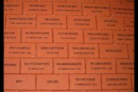 Engraved red pavers