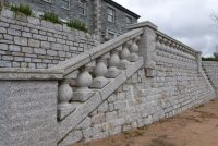Granite balustrade and walling