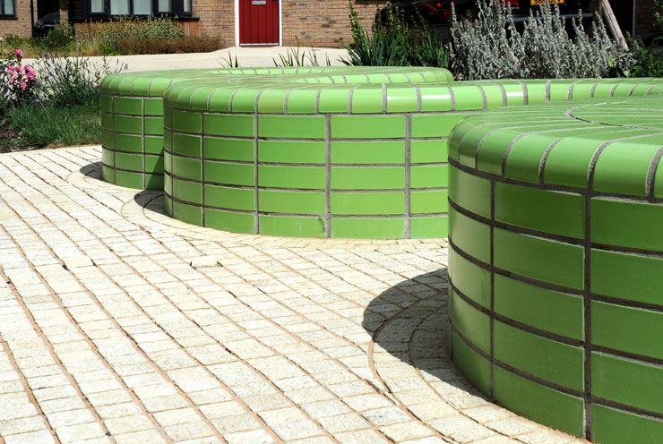 Green glazed bricks and special shapes