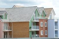 Grey and red multi clay roof tiles