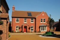 Plain red clay roof tile