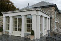 Polished granite conservatory