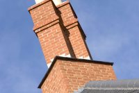 Pre fabricated red stock brick chimney