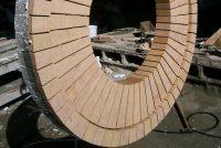 Precast bullseye arch