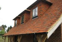 Red multi clay roof tile