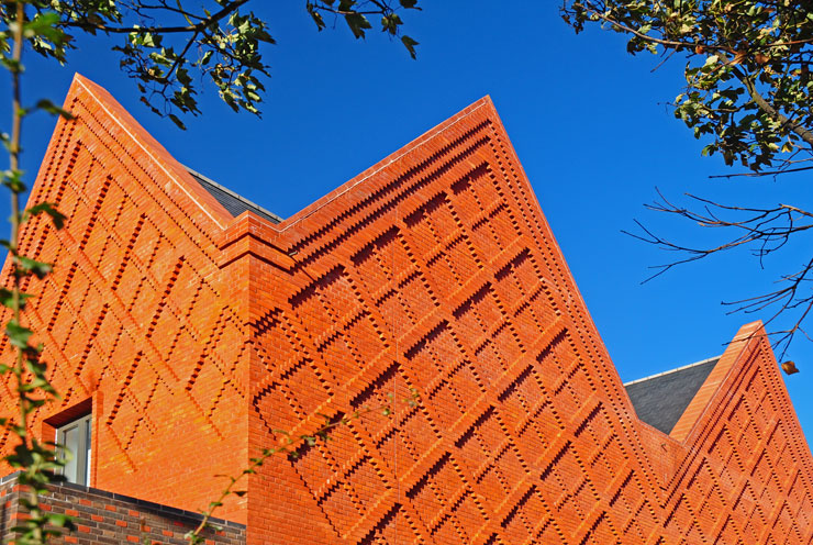 Red stock brick with corbell detailing
