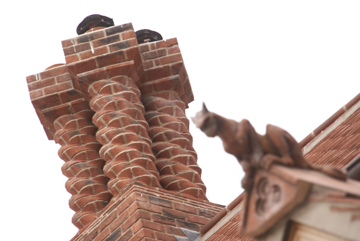 Spiral Chimney Red Multi Stock Bricks